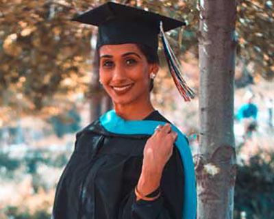 young woman graduating medical school