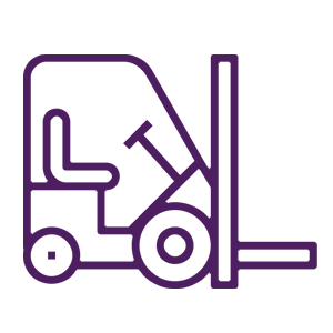 icon of a forklift