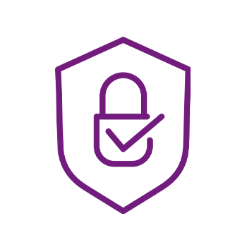 icon of a shield with a padlock inside